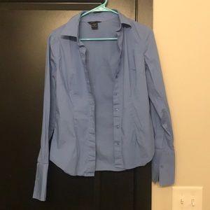Blue button down work shirt